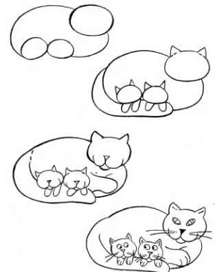 How to draw kitten